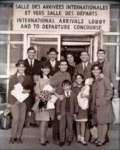 Immigrants juifs marocains à Montréal Source: archives privées